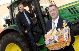 Pictured at the launch of the series are participating farmer John Tate from Moira and commercial director of Irwin's Bakery, Michael Murphy