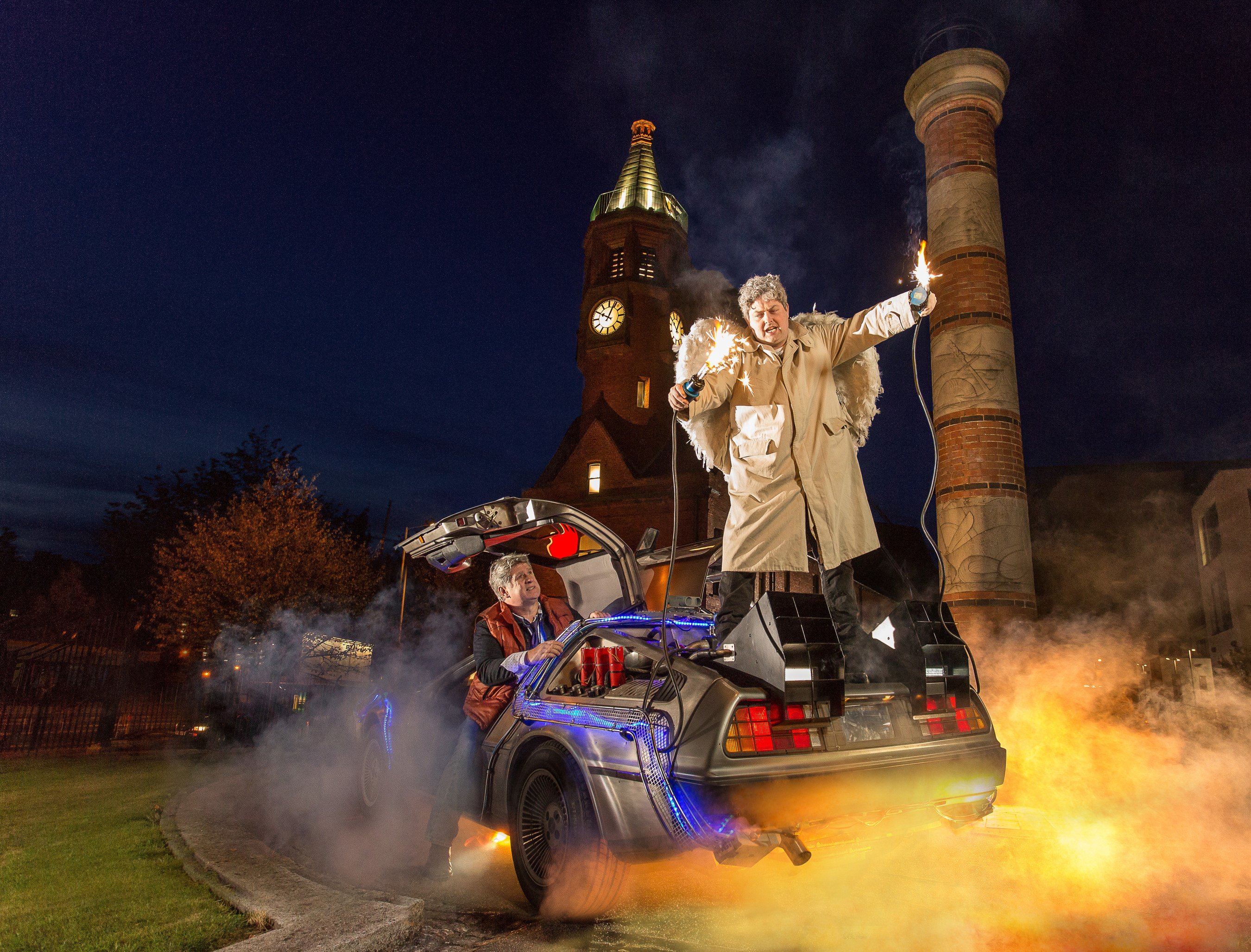 Harp recreate iconic Back to the Future stunt