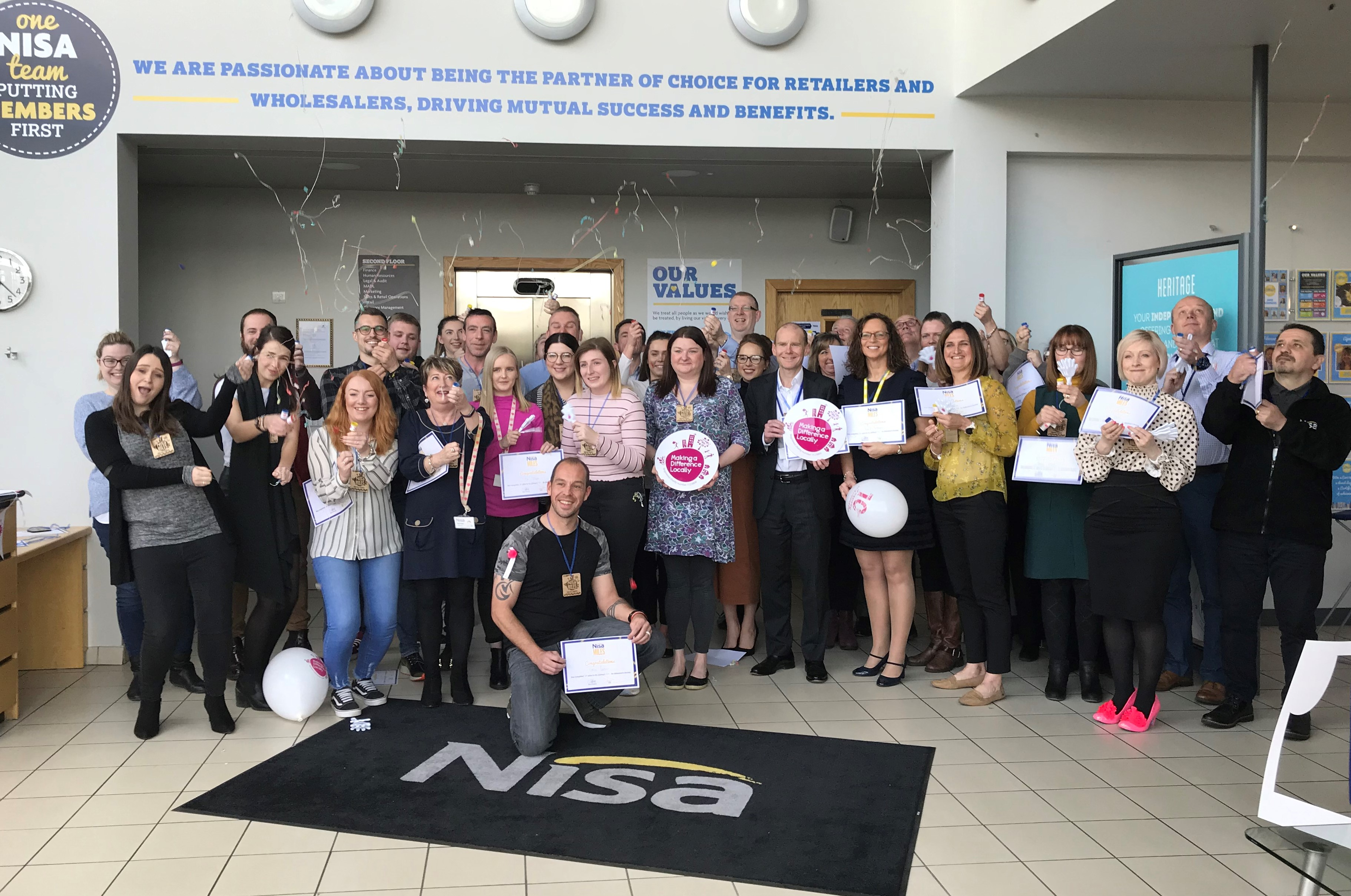 Nisa colleagues raise £15,000 for charity in workplace challenge
