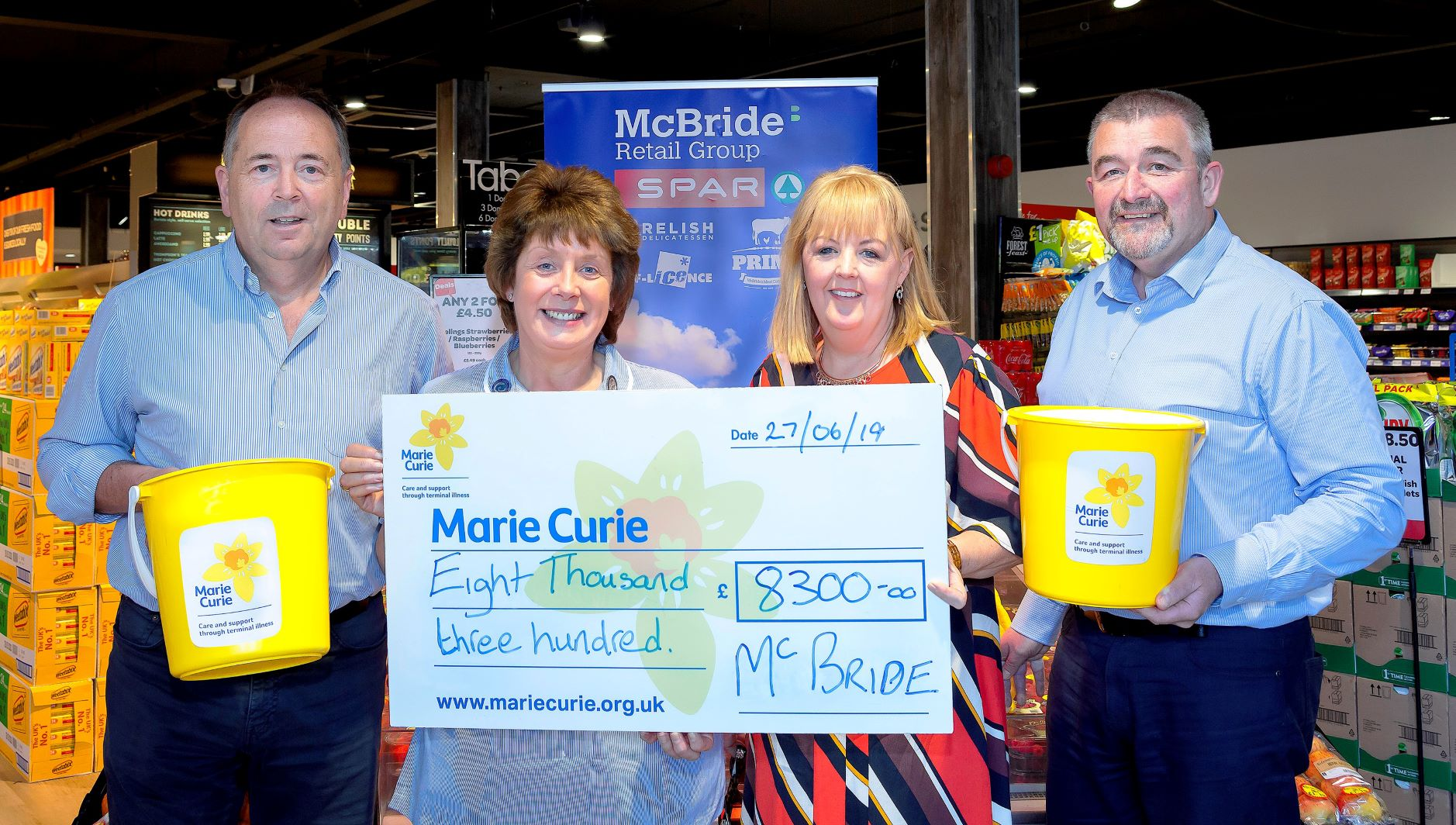 McBride's stores raise £8,300 for Marie Curie