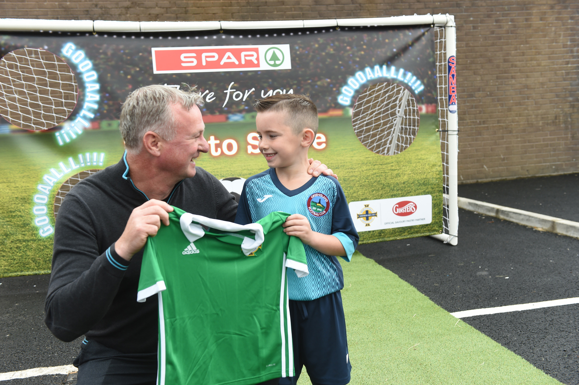 SPAR Fortfield hosts Ginster's Penalty Shootout with Michael O'Neill