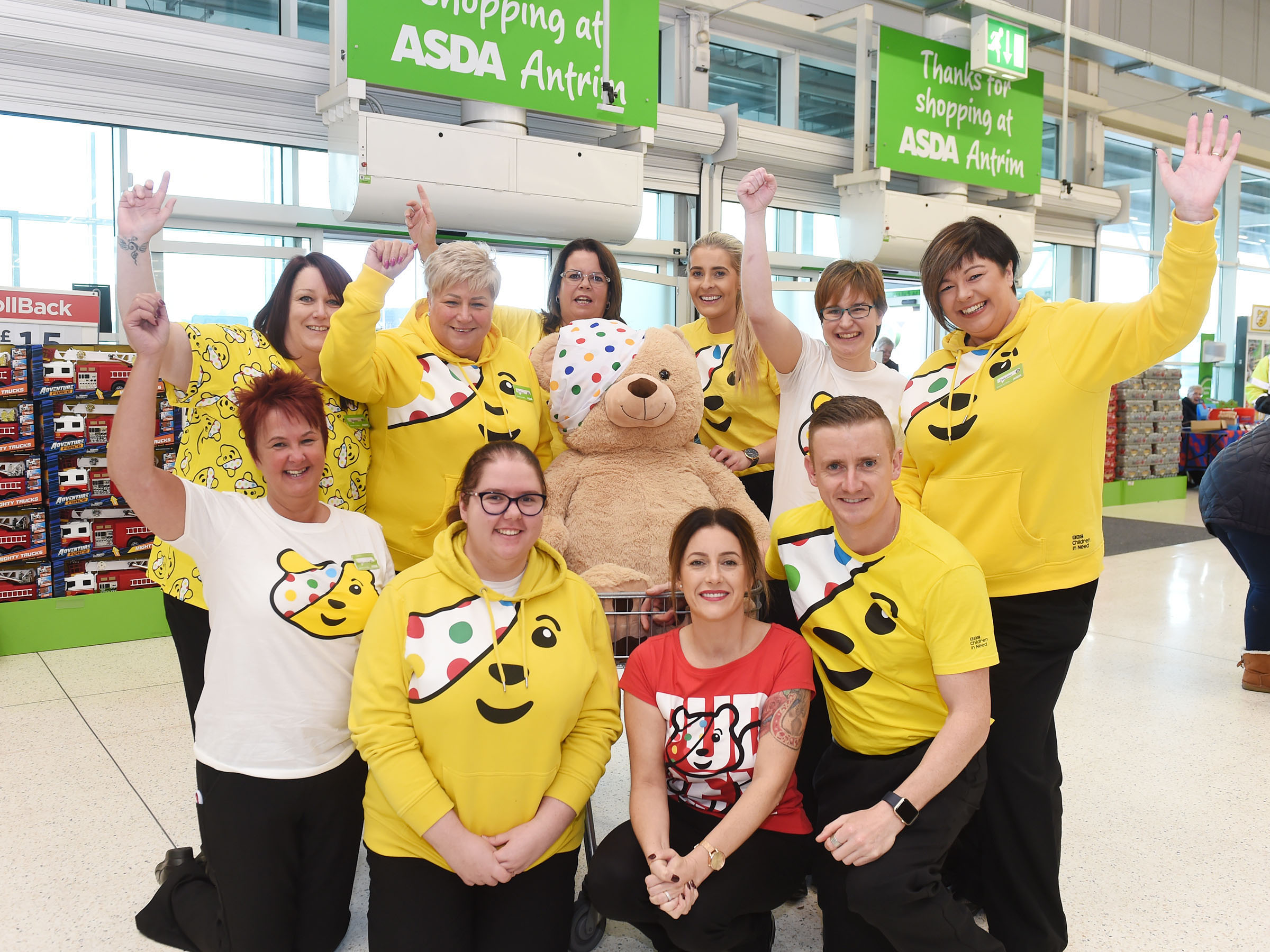 Asda colleagues in NI raise funds for BBC Children in Need