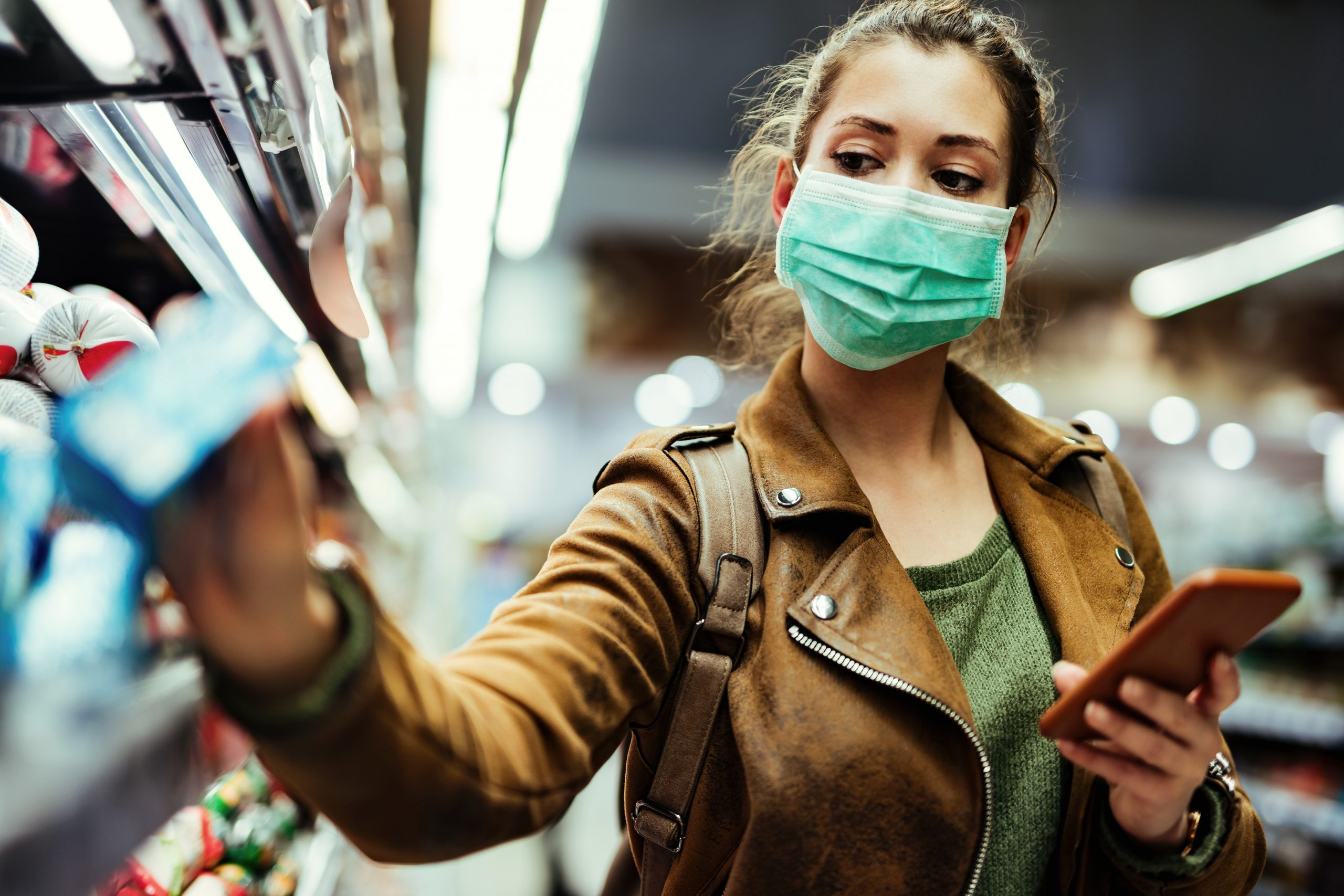Wearing masks in supermarkets may help people to buy healthier foods