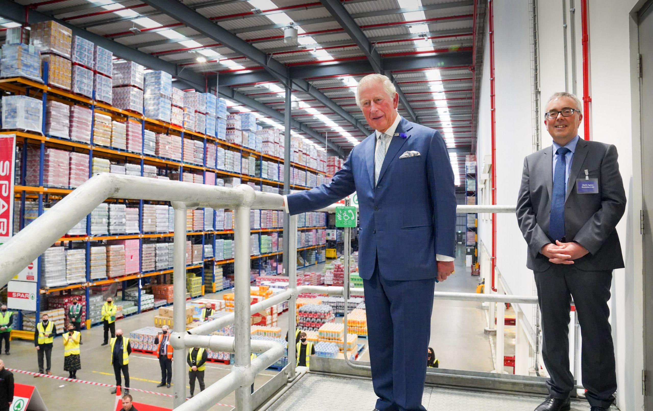 Royal visitor thanks wholesale and logistics workers during Belfast visit