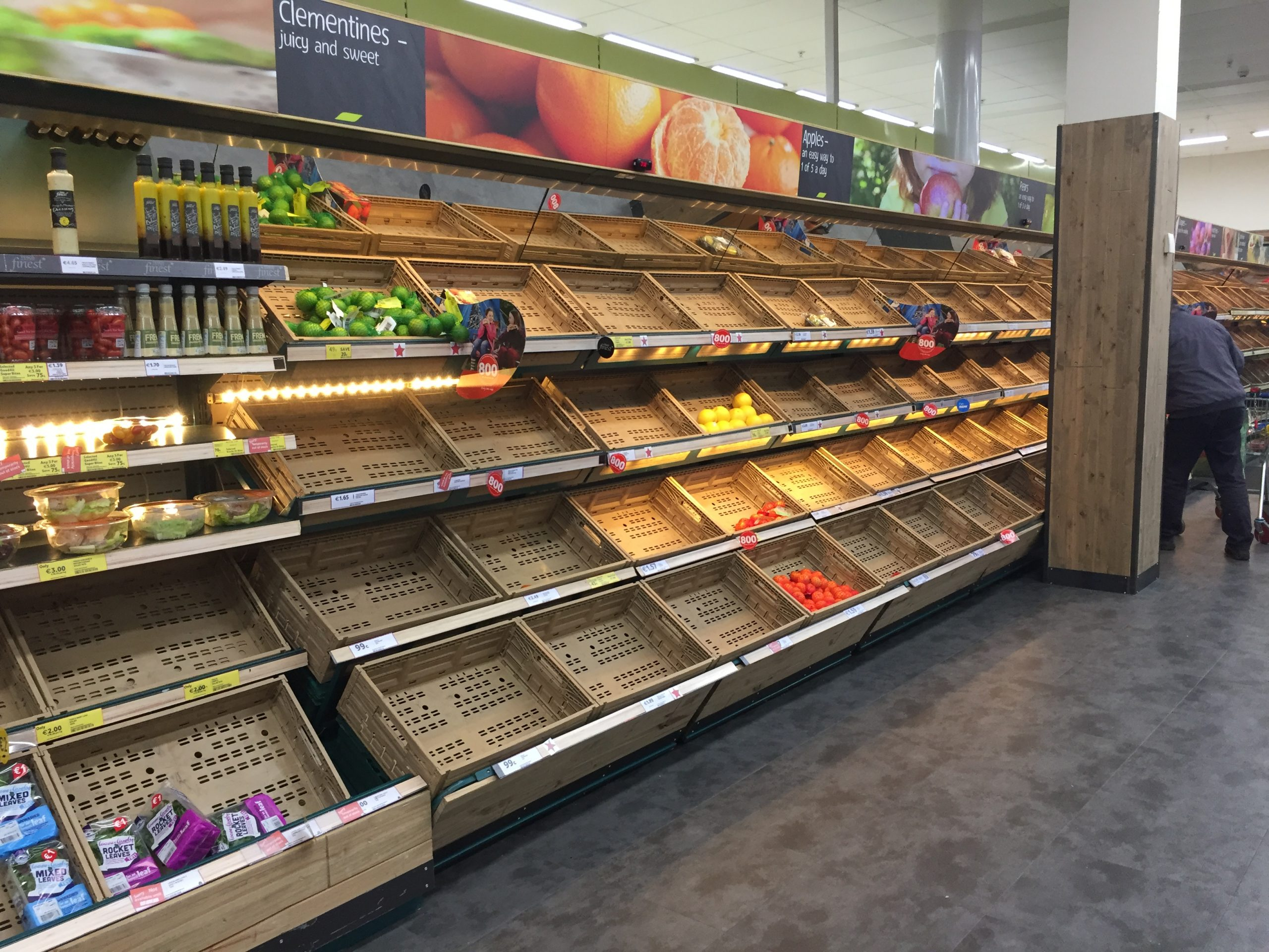 Supermarket chiefs write to Gove for action on NI food shortages