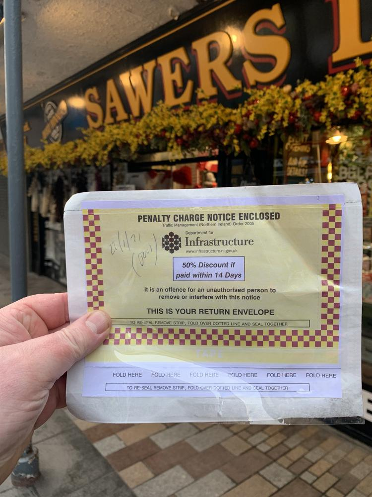 Outpouring of support for Sawers over Parking Ticket
