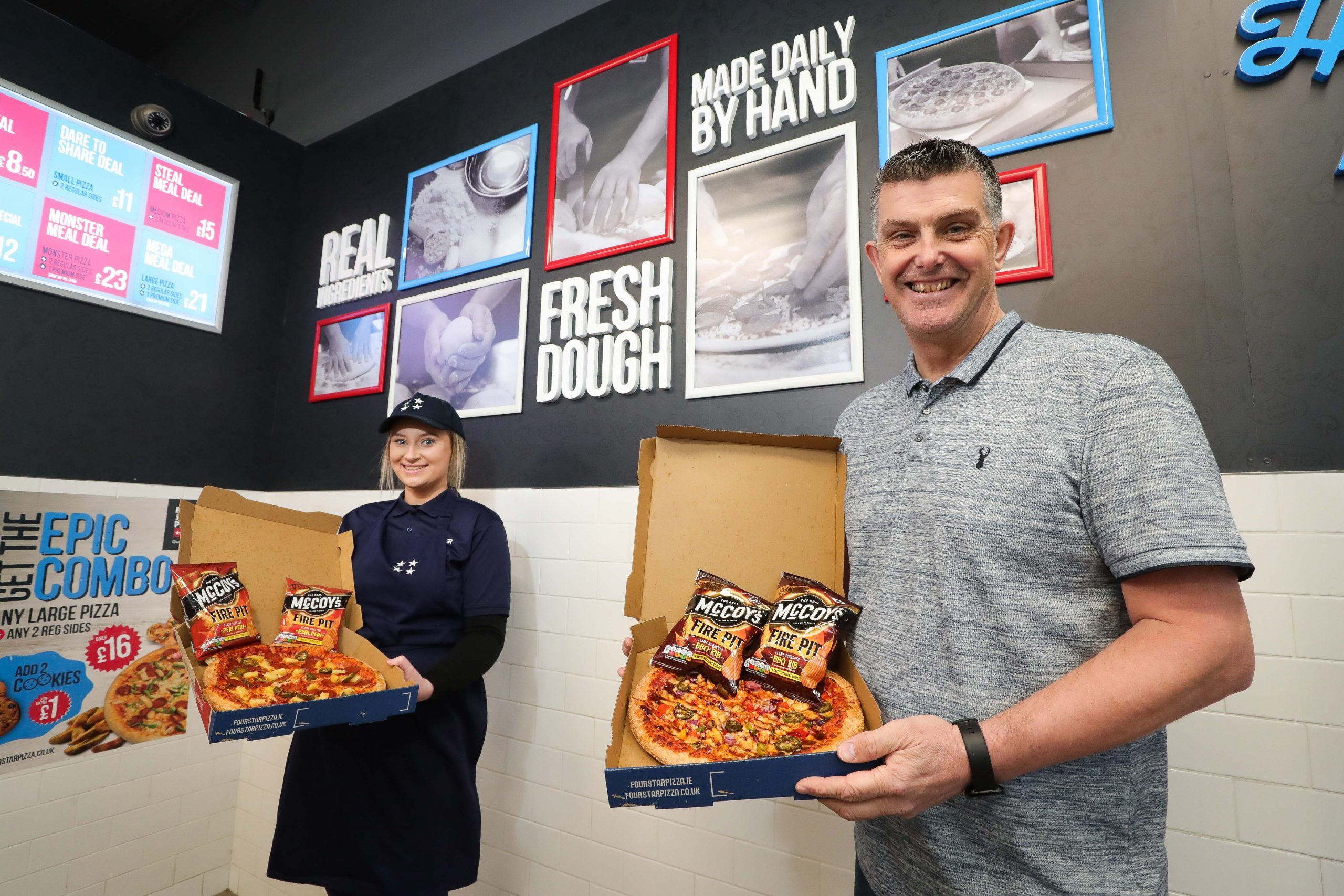 KP Snacks Links with Four Star Pizza for spicy evenings