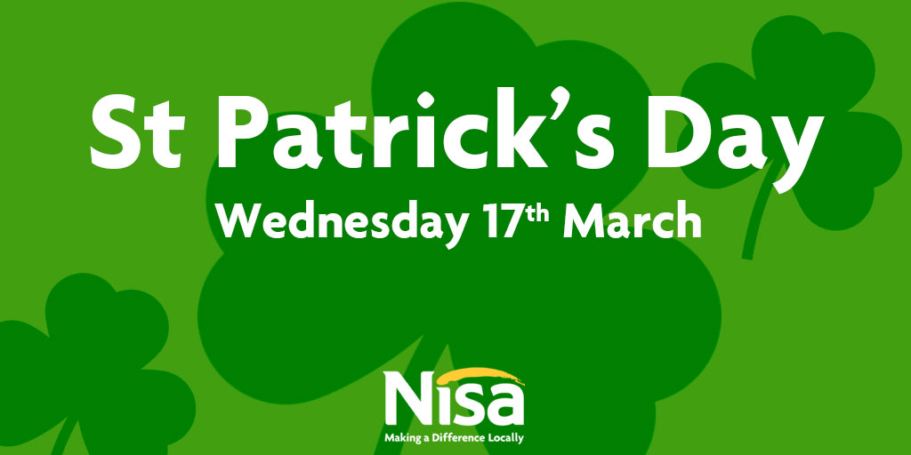 Nisa retailers set to help shoppers celebrate St Patrick's Day