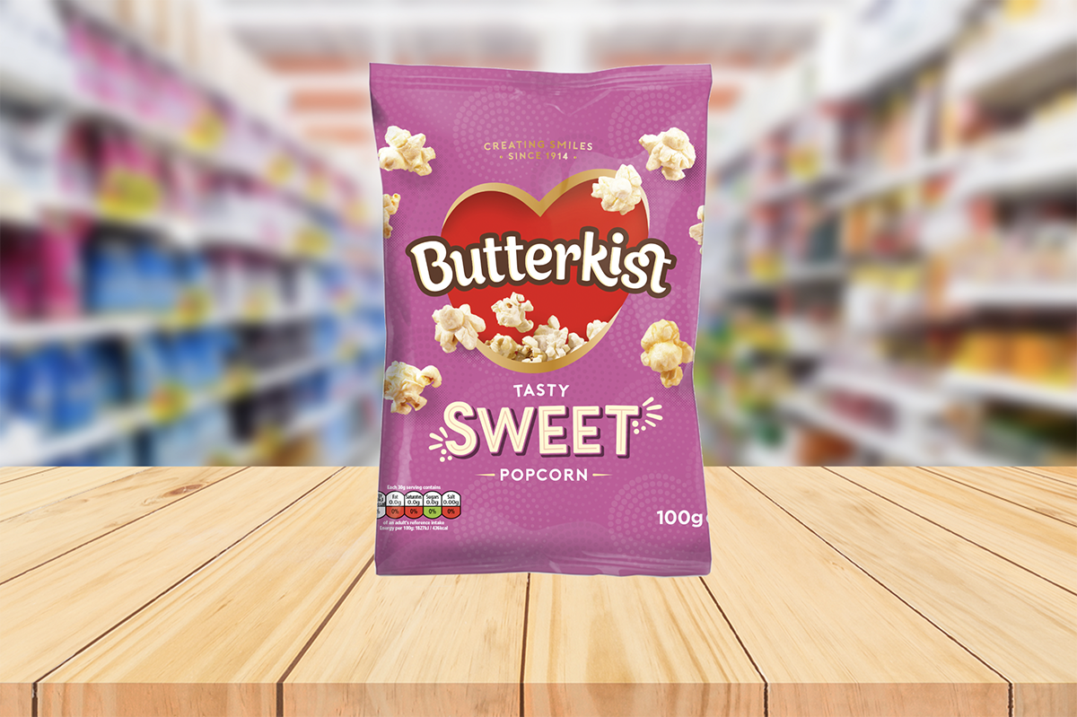 Butterkist Unveils Brand New Look – complete with full packaging overhaul