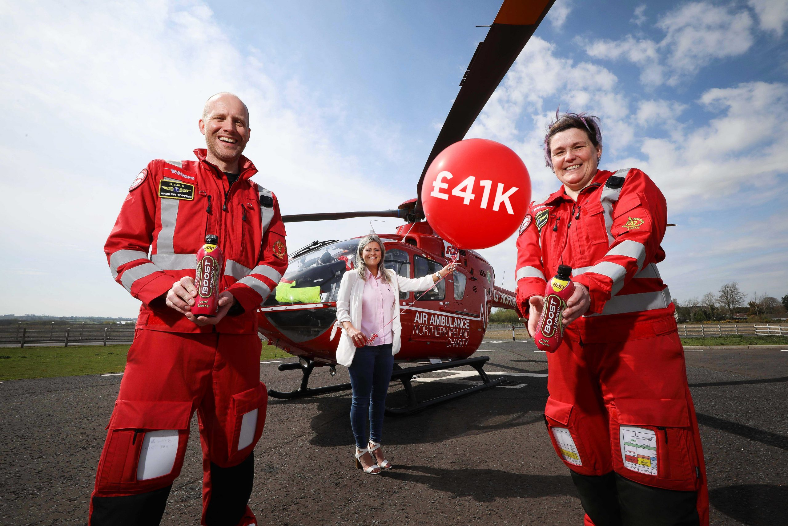 Big Boost for the Air Ambulance – Over £41k raised by Boost Drinks