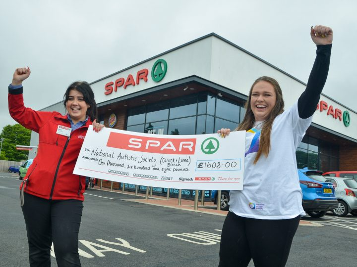Local National Autistic Society branch receives over £1,000 from Carrick retailer