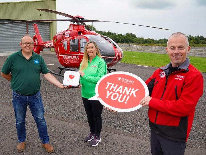 SPAR NI marks Air Ambulance Week with defibrillator donation