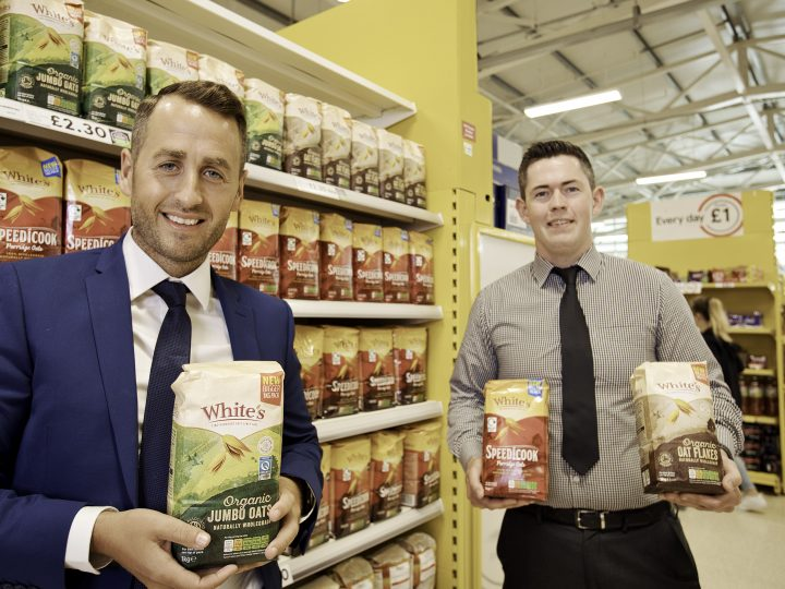 White's Oats relaunches hero products – recyclable packaging in partnership with Tesco NI