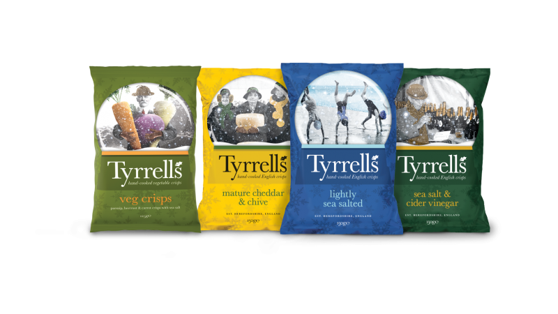 KP Snacks launch festive packaging for Tyrells