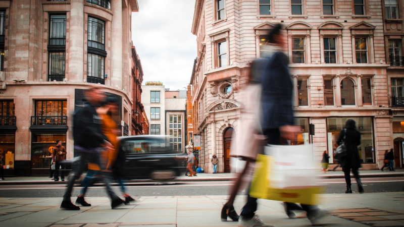 UK shop sales fall for the fifth month in a row